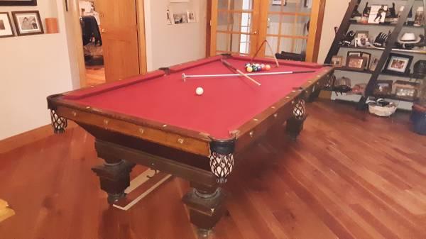 Enjoyable Solo Ithaca Antique Brunswick Balke 9Ft Pool Table 17 Download Free Architecture Designs Scobabritishbridgeorg
