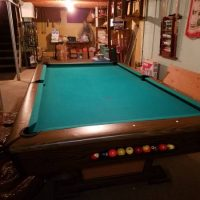 Slate Top Pool Table Used Very Little