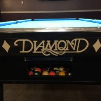 9 Foot Diamond Pro Am Oak Walnut Billiards Pool Table