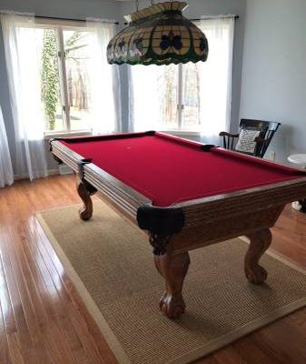 Olhausen Oak Pool Table