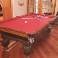 Antique Brunswick Balke 9ft Pool Table