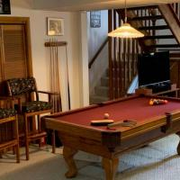 Drop Pocket Pool Table with Chair Set & Accessories